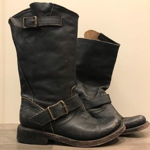 Freebird Black Crosby distressed leather boots
